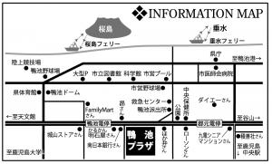 鴨池周辺地図
